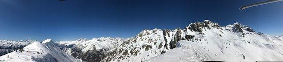 Mestia, Georgia: panoramic view at elevation 3200 m