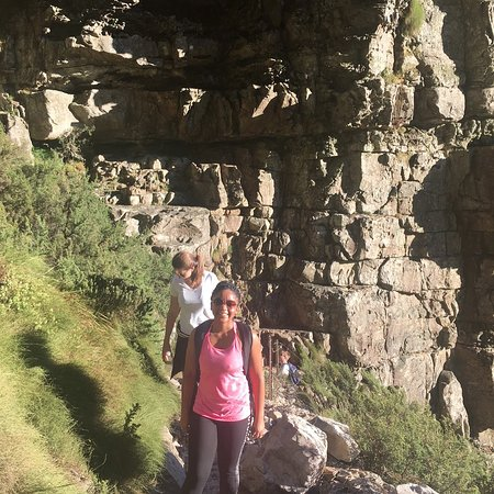 Hike Table Mountain: About a fourth of the way to the top of Table Mountain