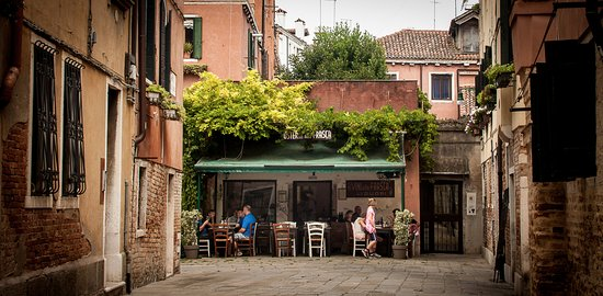 Osteria Alla Frasca tucked away in a small courtyard