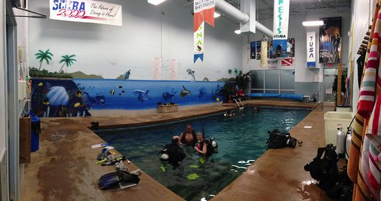 Richmond Hill, Canadá: Scuba 2000 - tropical indoor pool