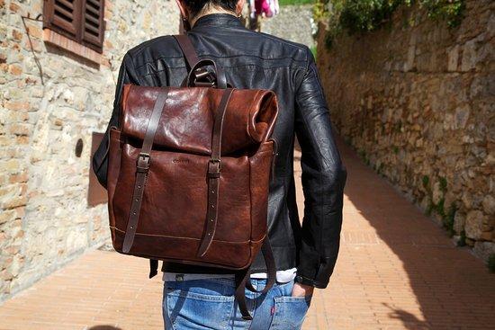 Le Torri Leather Goods Tuscany Backpack Jacket