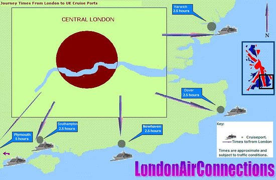 Greater London, UK: Guidence times to Cruise Terminals