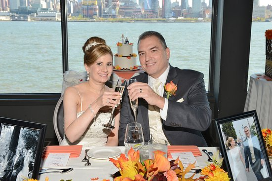 Our wedding at Chart House, Weehawken, NJ