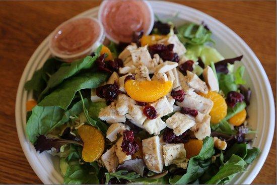 Kewanee, IL: Mandarin orange salad with poppy seed dressing.