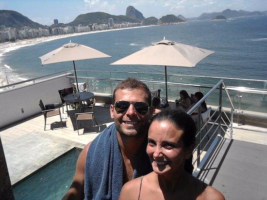 Orla Copacabana Hotel: desde la pileta (terraza)