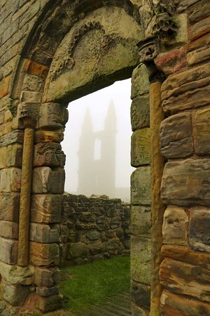 St Andrews Cathedral: Our foggy visit was worth it