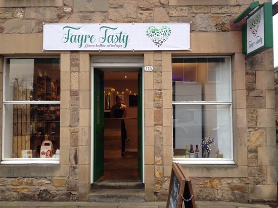 Fayre Tasty is situated on the High Street in Dalkeith, situated in a lovely listed  building