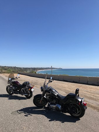 We parked the bikes for a quick stop on the PCH to enjoy the