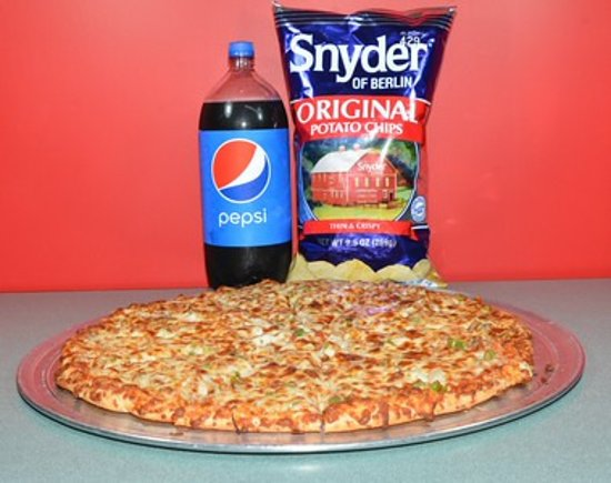 "Flatwoods, Кентукки: Special $22.15 18"" pizza, pop and Lg. Chips"
