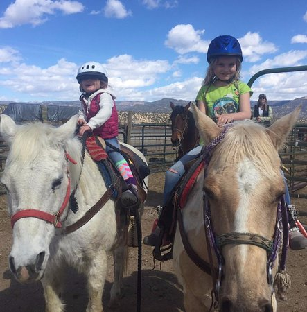 Nathrop, CO: Daughters on their horses.