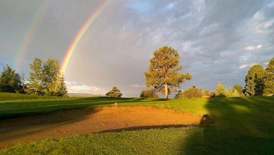 Pagosa Springs Golf Club: Rainbow over Pinon 9