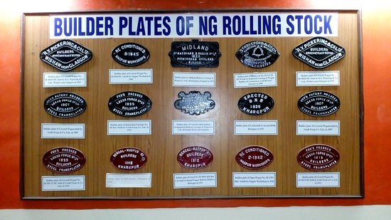 Narrow Gauge Rail Museum: builder plates