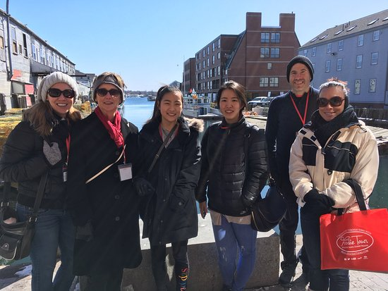Maine Foodie Tours - Culinary Walking Tours: One of our most popular guest photo opps, on Custom House Wharf