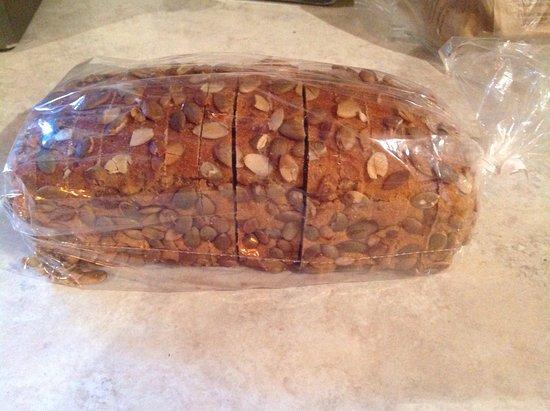 Summerland, Canada: Khorasan pumpkin seed bread