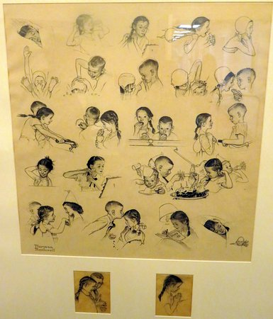 "Norman Rockwell Museum: One of the Rockwell studies for his later painting ""A Day in the Life of a Girl"" (also on displa"