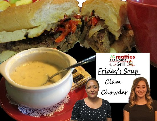 Elko, NV: GREAT soups daily!  Monday's is Picadillo while Friday is clam chowder