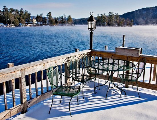 The Quarters at Lake George: Sundeck in the winter