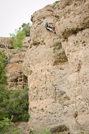 Antimony, UT: Rappelling and Rock Climbing