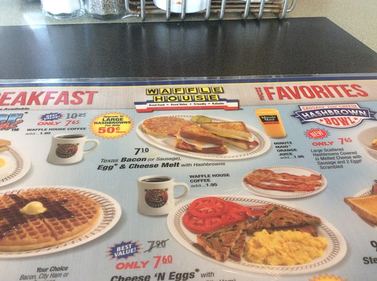 Partial Menu Picture Of Waffle House Tallahassee Tripadvisor