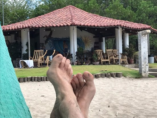 Rivas, Nicaragua: Pili's kitchen from my hammock