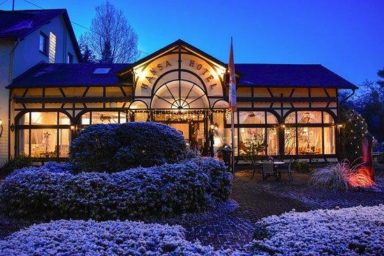 Hotel HANSA Mendig an einem stimmungsvollen Winterabend
