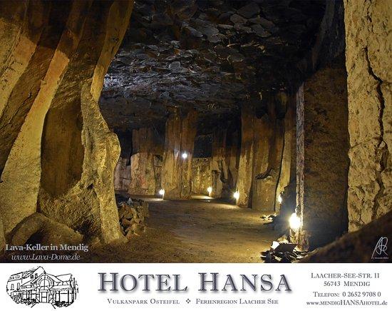 Mendig, Γερμανία: 700m vom Hotel entfernt laden einzigartige Lava-Keller zur Besichtung ein @ Vulkanmuseum Lava-Do