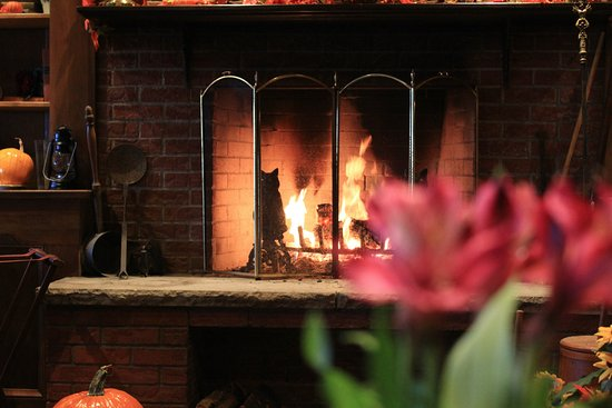 Mayville, Estado de Nueva York: Cozy up by our wood burning fireplace.