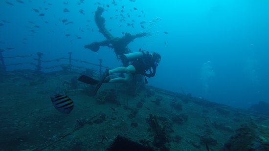 Scubafun: Aft deck of the St George - about 60 feet (18m)