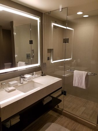 JW Marriott Minneapolis Mall Of America: Bathroom Sink And Standalone Shower