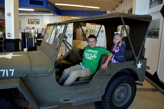 12th Armored Museum: A jeep the kids are allowed to climb in