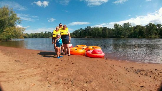 Mauston, WI: We are even able to accomodate the little river rats. Their tubes have a bottom and backrest.