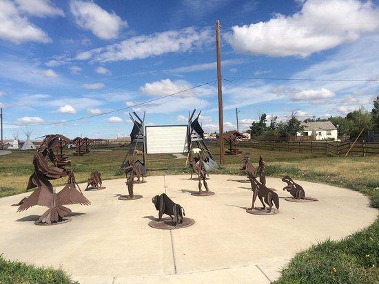 Browning, MT: L'extérieur du musée (partie non payante)