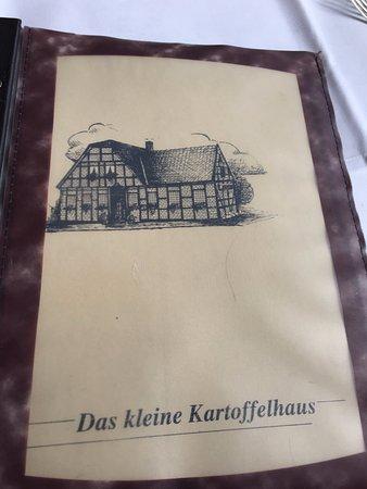 Altenberge, Tyskland: Menu front