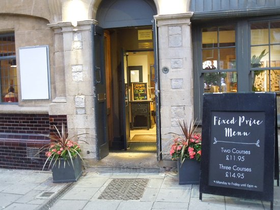 Front Door And Fixed Price Menu Board Picture Of The Red Lion