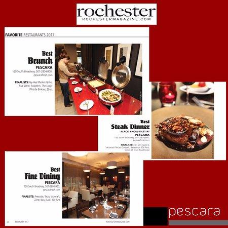 Pescara: Best Brunch, Best Steak Dinner and Best Fine Dinning in Rochester!!