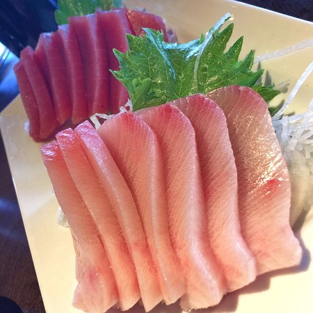 Yellowtail Hamachi Tuna Maguro Sashimi Picture Of Ra Sushi