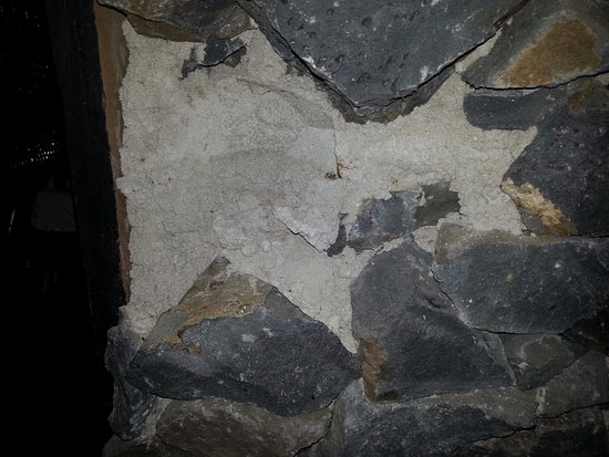Manase, Samoa: rocks have fallen out of the rock walls in the ensuite bathroom