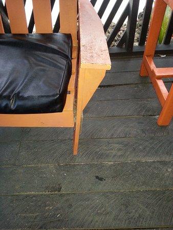 Manase, Samoa: broken chairs