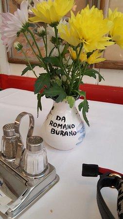 Trattoria da Romano: fresh flowers were a nice tough but not worth the 100,00