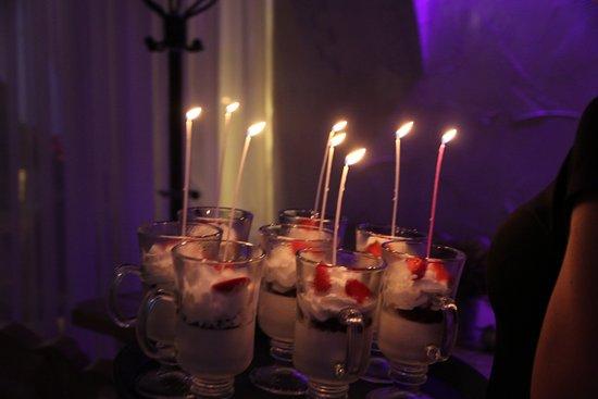 Elblag, Polen: deser włoski Panna Cotta