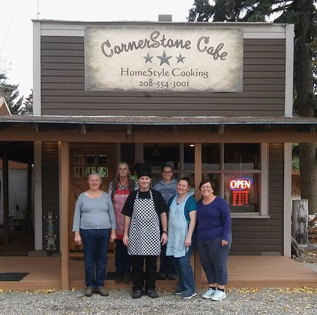 Moore, ID: Cornerstone Cafe - Building and Staff