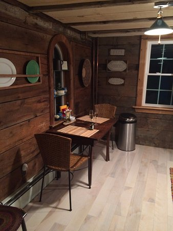 Millbrook, NY: Kitchen in the carriage house late at night