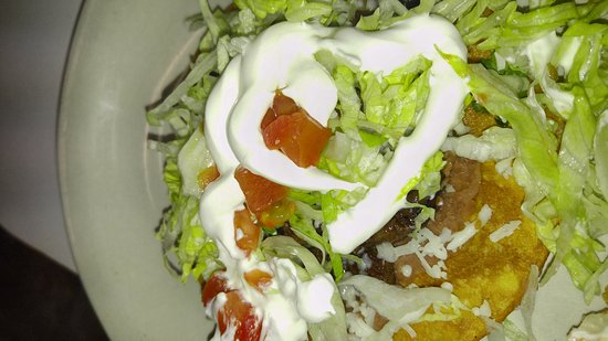 Heavener, Oklahoma: Tostado with carne asada