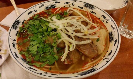 Fairfax, VA: Bun Bo Hue (Lemon Grass Noodles with Beef Shank & Ham Hock)