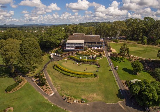 Buderim, Australia: Aerial View of the Clubhouse
