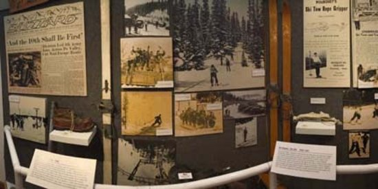 Colorado Ski Museum-Ski Hall of Fame : There are many old pictures that tell the story of the ski industry