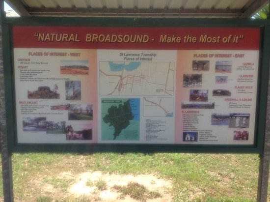 History Board listing surrounding areas