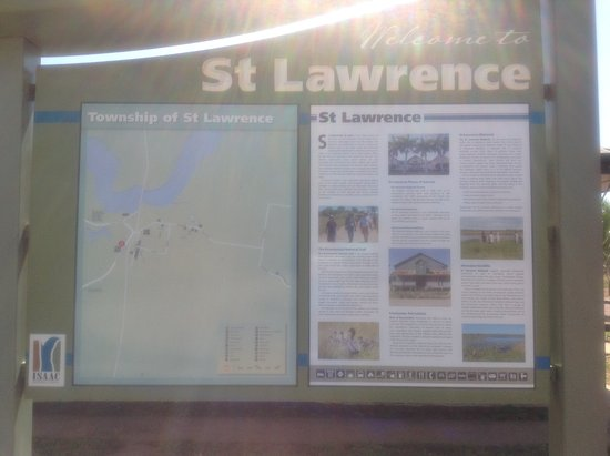 BarraCrab Caravan Park Clairview: History Board for St Lawrence