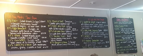 Tokoroa, New Zealand: wall menu