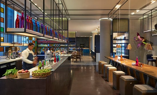 Enjoy 24 hour dining and retail experience at AnnaMaya, our